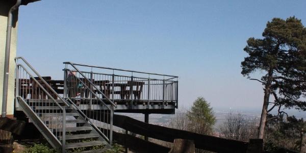 Aussichtsplattform der Ringelsberghütte
