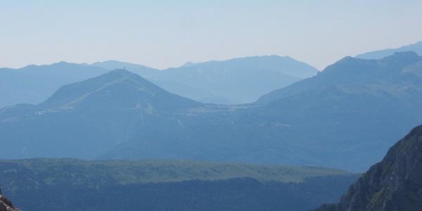 Blick auf Monte Bondone von der Hütte Pedrotti