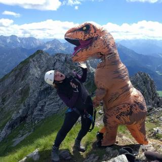 Wild dinosaur spotting! The Alps are a dangerous place
