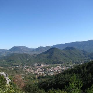 Quillan from Col de Portel