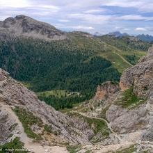 Abstieg vom Klettersteig