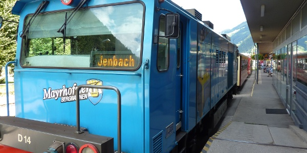 Lokomotive des Zuges Jenbach - Mayrhofen