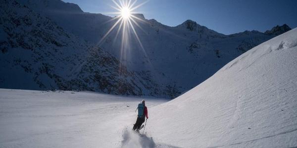 Abfahrt Skitour - Sölden