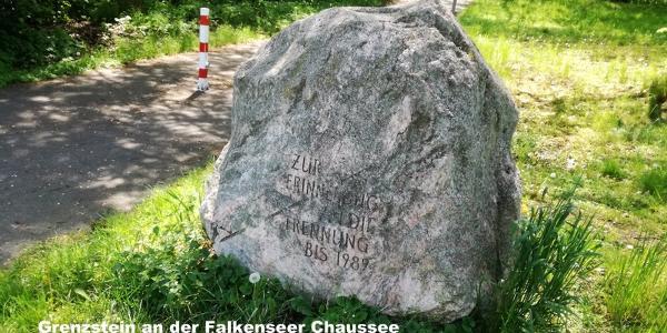 Grenzstein an der Falkenseer Chaussee