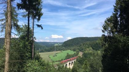 Blick von der Aussichtsplattform auf den Kleinen Viadukt