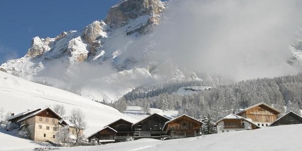 Ladin framhouses on the larch path in San Cassiano - Alta Badia
