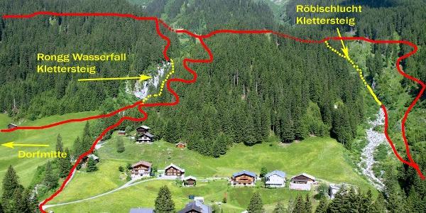 Klettersteig Rongg Wasserfall