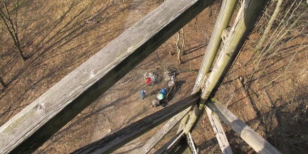 Tiefblick vom Aussichtsturm Hochwacht.