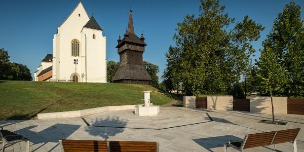 Nyírbátor, a református templom és harangtornya