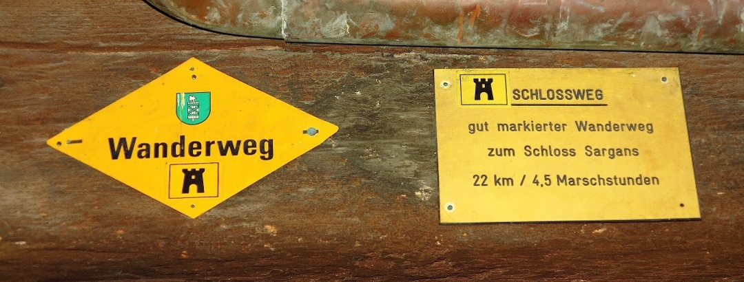 Startwegweiser in Werdenberg.