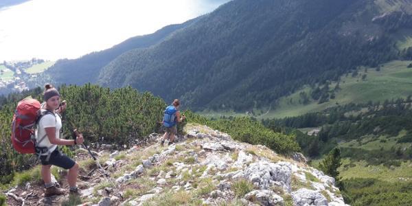 Abstieg von der Rotspitze