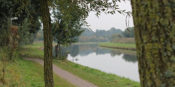 Die Vechte am Tierpark Nordhorn