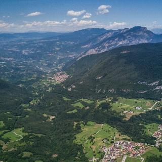 Cavedago, Spormaggiore und Blick auf das Val di Non