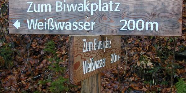 hier geht´s zum Biwakplatz Weißwasser am Saigerinbach