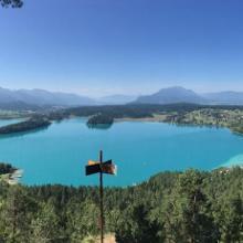 Blick vom Tabor aus auf den Faaker See
