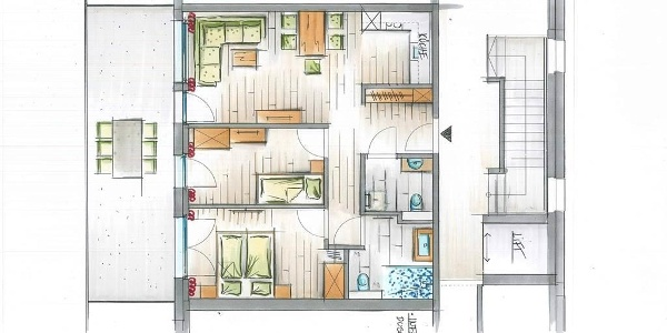 3-Bett-Appartement-1,5Zimmer 102 und 202