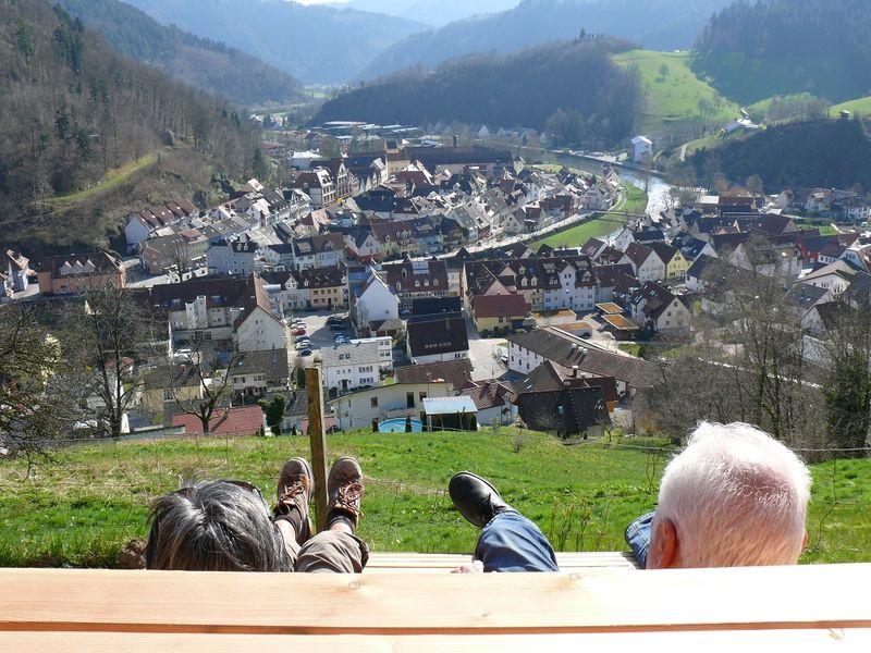 Der Blick auf Wolfach ist einfach fantastisch