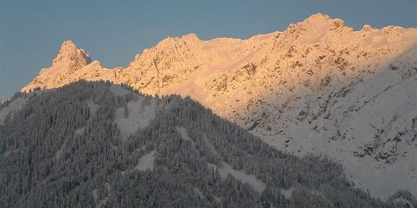 Winterbild von der Vandanser Steinwand