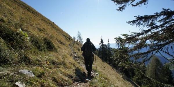 Unterwegs am Panoramaweg Südalpen