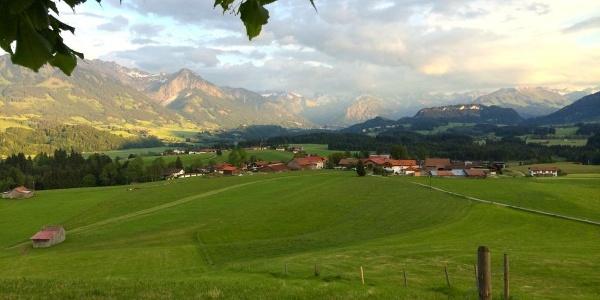 View from the Wittelsbacher Höhe near Ofterschwang