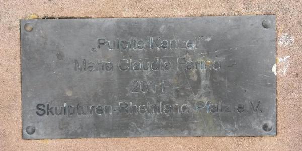 Hinweis auf die Pulpito Kanzel vor/hinter Weilerbach