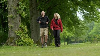 Wanderer auf dem Bäderweg