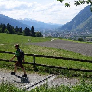 Beim Fürstenwald mit Aussicht ins Rheintal
