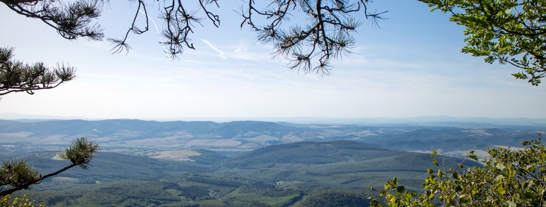 Panorama von der Spitze (Aussichtsort von Ágasvár)
