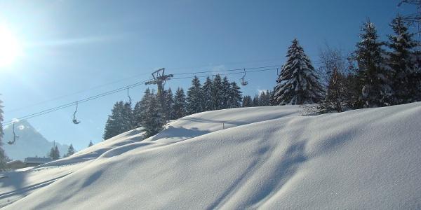 Sesselbahn im Skigebiet Sarn