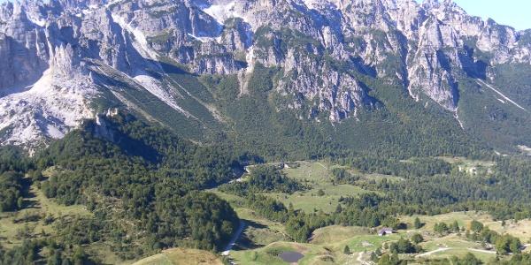 Der Carega Bergstock vom La Sisilla Gipfel