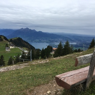 2. View down to lake ascensing to Rigi Klum.