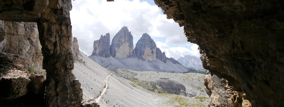 View to the Three Peaks of Lavaredo