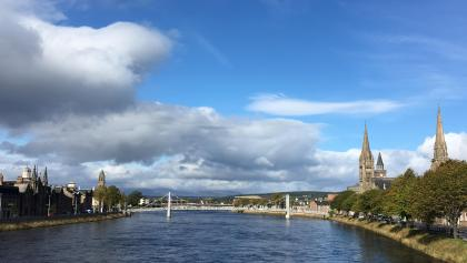 Inverness city centre (from Ness Bridge)