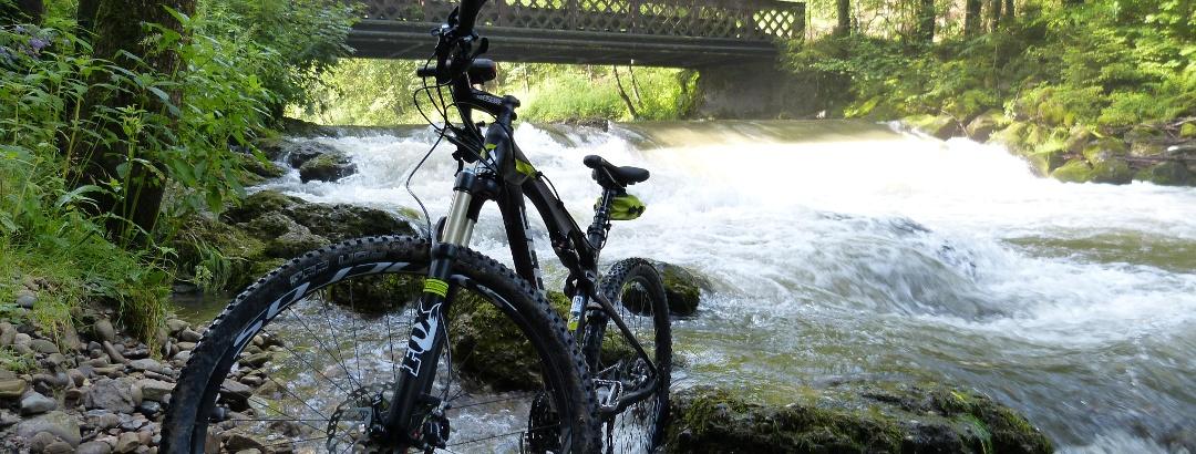 Mountain biking at Steigbachtal