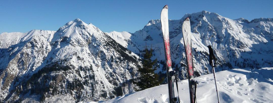 Sonnenkopf Gipfel im Winter