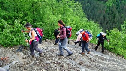 Aufstieg zum  Passo Serra