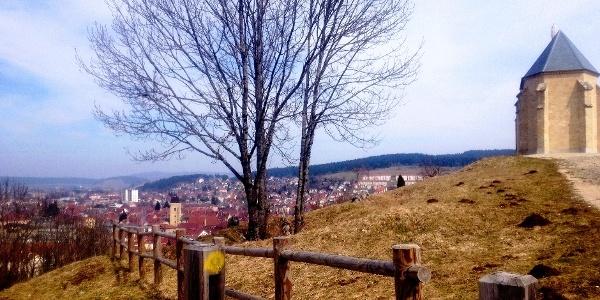 Veduta di Pontarlier dalla capella du Buis