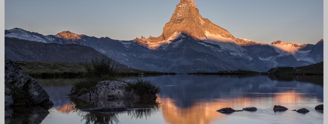 Stellisee mit Matterhornspiegelung