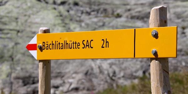 Zwei Stunden vom Räterichsboden bis zur Bächlitalhütte.