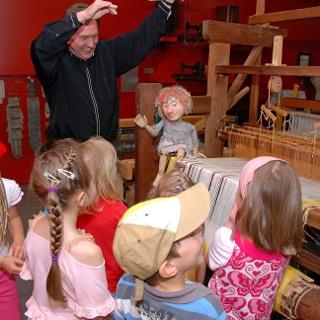 Wuschel im Museum Die Weberei Oederan