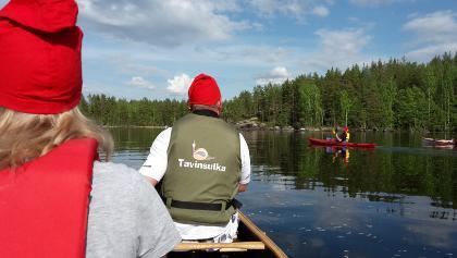 Tavinsulka canoes on Lake Konnevesi