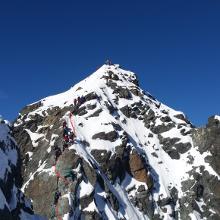 von der Scharte zum Gipfel