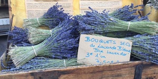 Lavender for sale at the market in Bonnieux