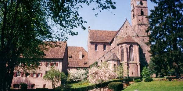 Kloster Alpirsbach vom Kurgarten aus