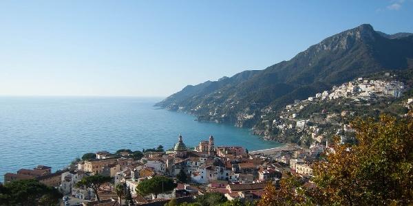 Küstenort mit Panoramablick: Vietri sul Mare