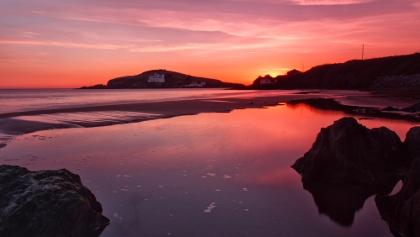 Views to Burgh Island from Bigbury-on-Sea