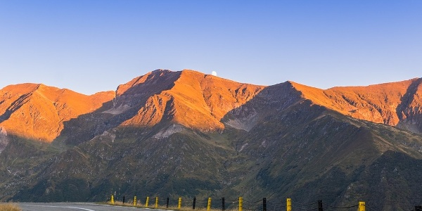 The mountain range of the Carpathians, seen from Transfagarasan Highway