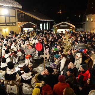 Bergparade an der Saigerhütte Olbernhau