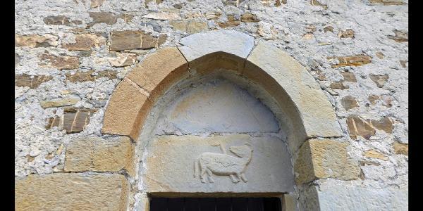 Türsturz an der Capella Santa Brigida