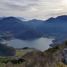 Lago di Ledro from Monte Cocca